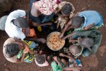 food – family eating lunch together, conakry, guinea conakry